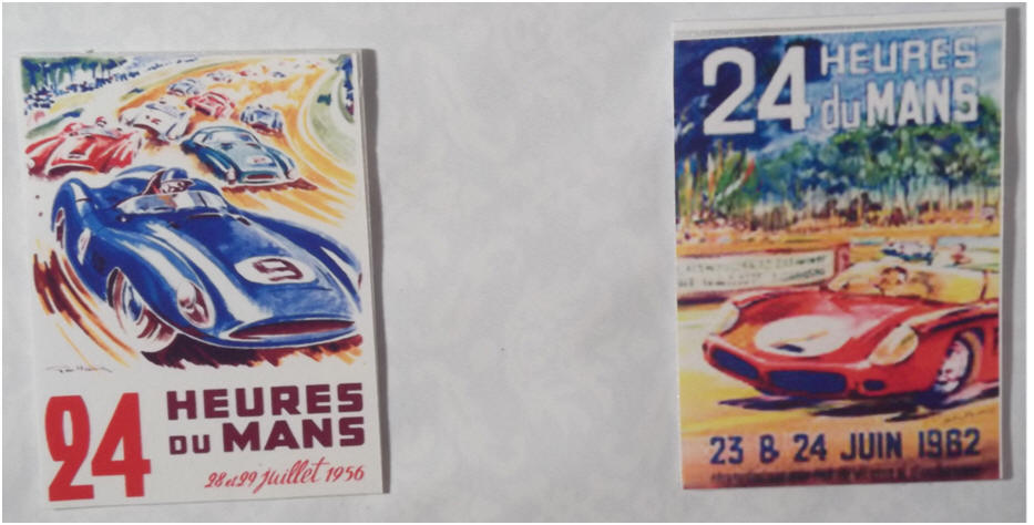 1956 and 1962 Le Mans posters