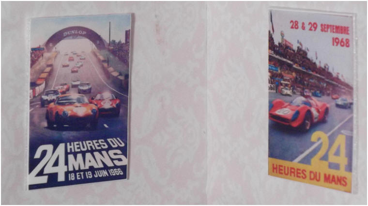 1966 and 1968 Le Mans posters