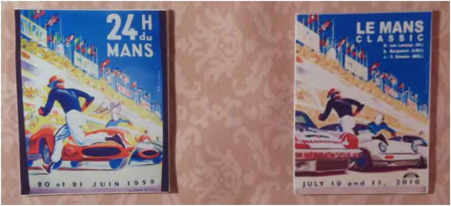1959 and 2010 Le Mans posters