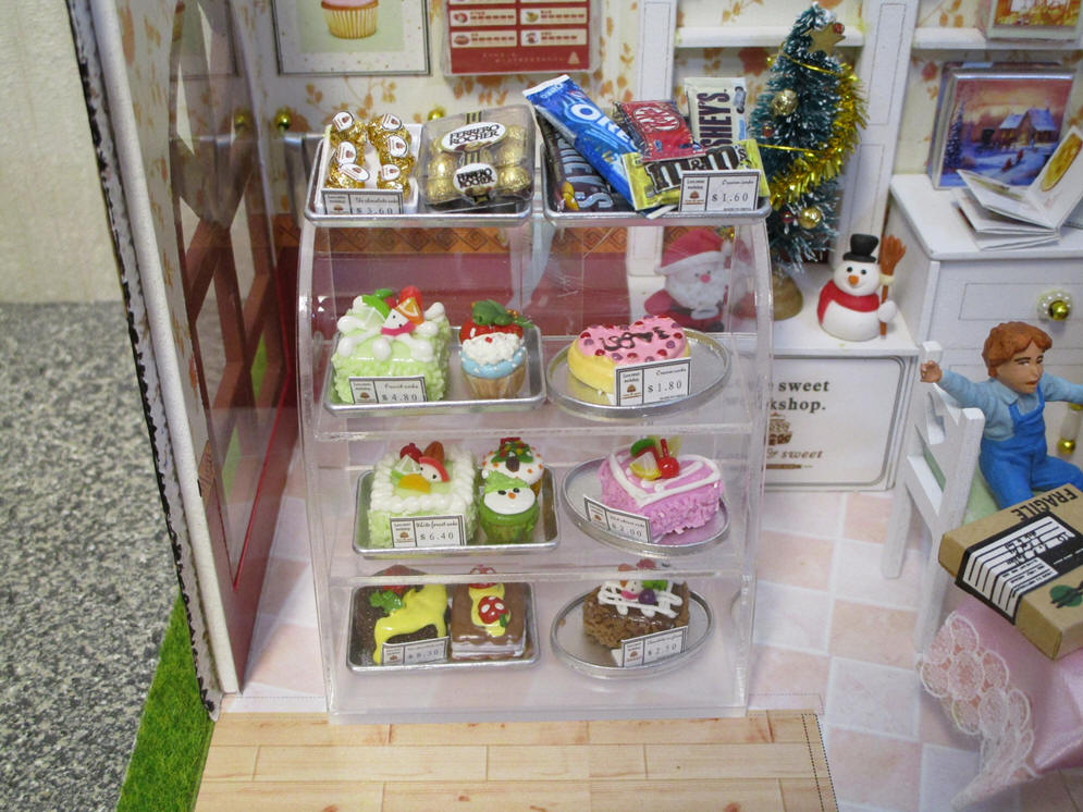 Cakes and Chocolates in showcase
